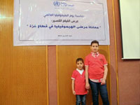 Mohamed and Ammar Humaid, haemophiliac children