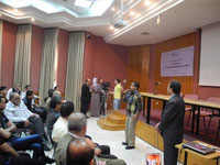 Discussion about hemophilia patients' health and human rights followed the screening of the film, Gaza, 2014