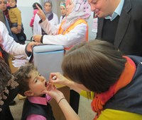 National immunization campaigns target more than 3.9 million children in Jordan and Syria