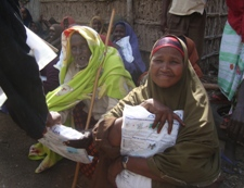 People receiving insecticide treated nets