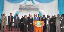 Senior government officials and representatives from the UN agencies, donors and African Union at the launching ceremony
