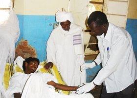 A photo of a Rift Valley fever patient in Kosti, Sudan