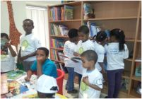 Children in the Childrens Library of Alfaisal Cultural Center