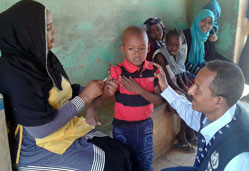 WHO and The Federal Ministry of Health launch measles vaccination campaign in Sudan