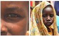 Two faces of a Sudanese boy and girl