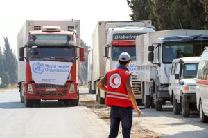 WHO health supplies revive weakened health facilities in besieged Deir-Ez-Zor Governorate in Syria