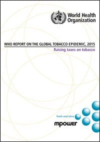 Image of cover for WHO's Report on the Global Tobacco Epidemic 2015.