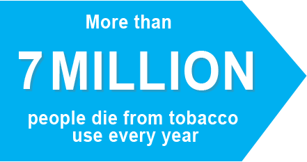 More than 7 million people die from tobacco use every year