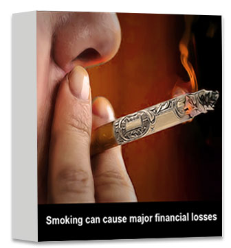 Smoking can cause major financial losses
