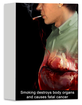 Smoking destroys body organs and causes fatal cancer
