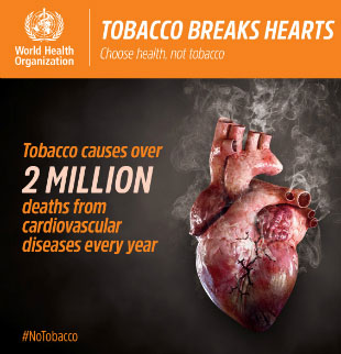 World No Tobacco Day 2018 infographic: Tobacco causes over 2 million deaths from cardiovascular diseases every year