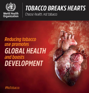World No Tobacco Day 2018 infographic - Global health: Reducing tobacco use promotes global health and boosts development