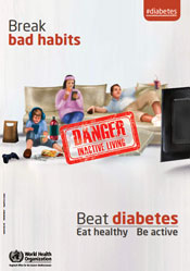 English World Health Day 2016 poster: Beat diabetes
