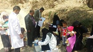 WHO has provided medical staff and trained them to deal with the increasing number of malnourished children in the area