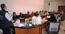 The training targeted 20 water quality technicians from Saada, Amran and Sana'a governorates