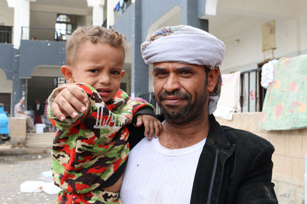 Ahmed fled his home during the shelling in Al Hudaydah in fear for his family's safety. Arriving in Sana'a, he had no one and didn't know where to go
