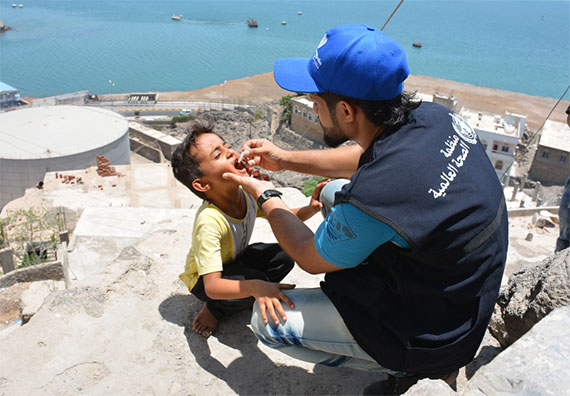 Almost 275,000 doses of OCV were administered in May across 5 priority districts in Aden. Nearly 70% of the target population successfully received OCV (Photo Credit: Sadeq Al-Wesabi).