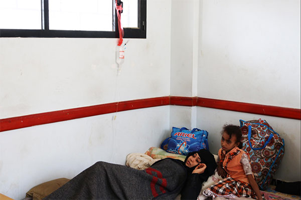 Sama finally got a classroom to rest and take her medication. She has a brain tumor and needs proper medical care she can't afford. Her medication is provided by charitable donors