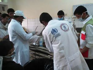WHO medical team in Haradh Hospital, Yemen