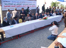 Launch of the schistosomiasis elimination campaign in December 2009 in Hajja